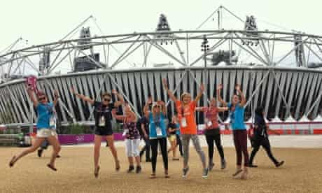 Dancers arrive for the London 2012 Olympic opening ceremony
