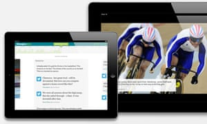 The Guardian Second Screen, on tablet