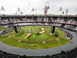 A full view of the inside of the the Olympic Stadium