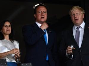 London Mayor Boris Johnson and Prime Minister David Cameron