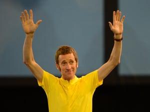 British cyclist and Tour de France winner Bradley Wiggins
