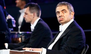 Rowan Atkinson performs during the London 2012 opening ceremony