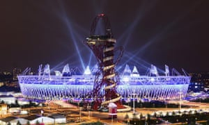 The Olympic Stadium is lit up during the Opening Ceremony