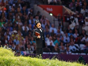 Kenneth Branagh reads from the Tempest at the London 2012 opening ceremony