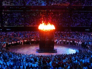 The Olympic cauldron