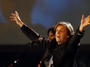 Paul McCartney performs at the London 2012 opening ceremony
