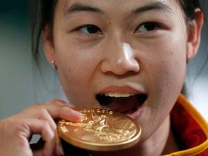 China's gold medal winning Yi Siling