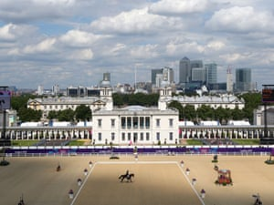 Our first look at the picturesque Greenwich Park where Andrei Korshunov of Russia rides Fabiy in the Individual Dressage