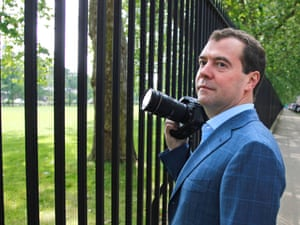 Prime Minister Dmitry Medvedev sightseeing in London