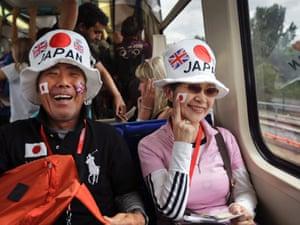 train ride to Olympic judo venue