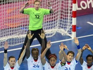 France versus Norway women's handball game