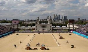 The dressage arena in Greenwich