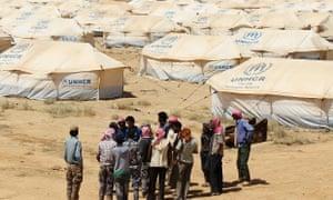 Refugee camp for Syrians in Jordan
