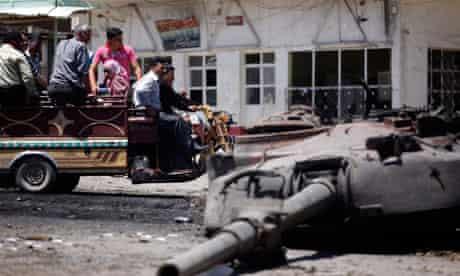 Syria destroyed tank
