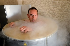 Euro picks: France's Franck Ribery sits in a cryotherapy chamber