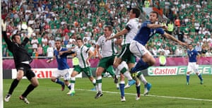 Euro picks: Italy's Antonio Cassano scores the opening goal of the game