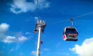The cable car in east London