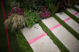 Hampton Court flower show: Stone steps at 'The Bridge Over Troubled Water' garden