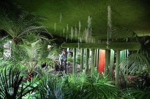 Hampton Court flower show: Designer Tony Smith tends to his garden called 'Possession'