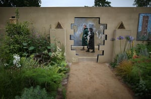 Hampton Court flower show: Visitors walk though the Chris Beardshaw designed Urban Oasis garden