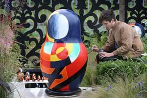 Hampton Court flower show: Russian doll sculpture in The Russian Museum Garden