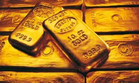 Gold bars and bullion