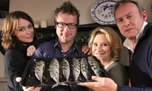 Keeley, Hugh, Felicity and Philip in River Cottage: Three Go Mad