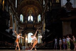 Ballet in St Paul's : The English National Ballet perform a dress rehearsal, St Paul's Cathedral
