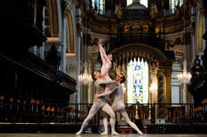 Ballet in St Paul's : The English National Ballet perform a dress rehearsal in St Paul's
