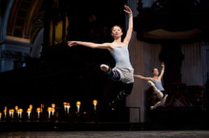 Ballet in St Paul's : Members of the English National Ballet perform a dress rehearsal