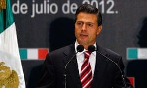 Unconfirmed Mexico election winner Enrique Peña Nieto