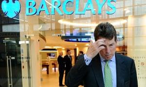 Barclays departing chief exec Bob Diamond