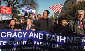 Jesse Jackson protest for Al Gore supreme court Florida ballot December 2000