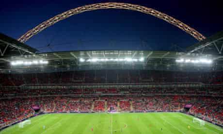 London 2012 Olympics men's football match between Great Britain and UAE at Wembley stadium