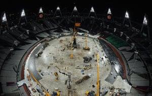 Olympic cauldron: The olympic cauldron is temporarily extinguished