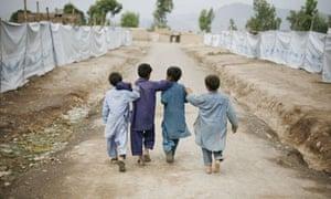 refugee camp in Peshawar