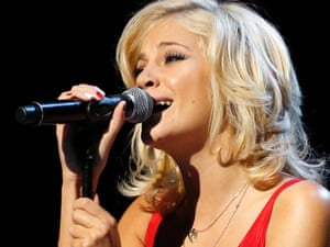 Pixie Lott, performing before all this gadding about started