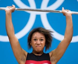 Weightlifting faces: Zoe Smith of Great Britain