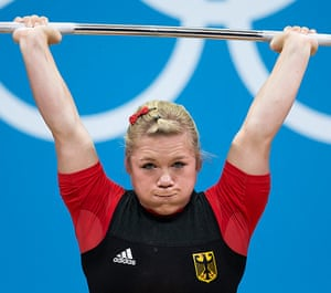 Weightlifting faces: Christin Ulrich of Germany