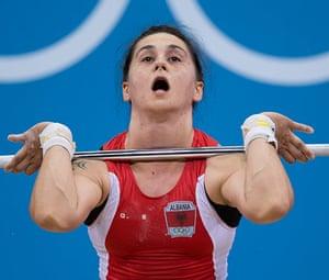 Weightlifting faces: Romela Begaj of Albania