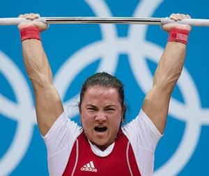 Weightlifting faces: Nastassia Novikava of Bulgaria
