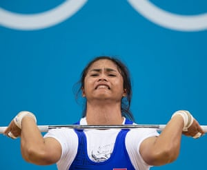 Weightlifting faces: Rattikan Gulnoi of Thailand