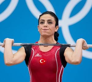 Weightlifting faces: Bediha Tunadagi of Turkey