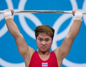 Weightlifting faces: Pimsiri Sirikaew of Thailand
