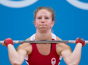 Weightlifting faces: Annie Moniqui of Canada