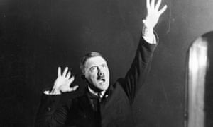 Hitler rehearsing his gestures for a speech