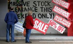 A closing down sale in Crawley