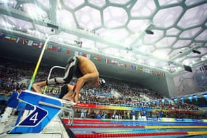 phelps gallery: Michael Phelps sets off in the Men's 400m Individual Medley Final