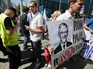 Polish Ron Paul supporters in Warsaw