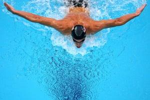 phelps gallery: Michael Phelps wins in the Men's 200m Butterfly Final in Beijing